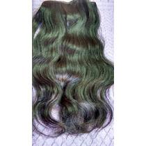 Cabelo Humano Ondulado Castanho Tela 50gr 40cm -mega Hair