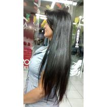 Alongamento Mega Hair Aplique Tic Tac Preto Liso Longo 70 Cm