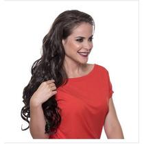 Alongamento Mega Hair Tictac Castanho Natural 50cm 3 Telas