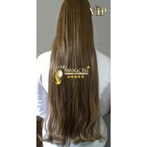 Alongamento Aplique Mega Hair Tic Tac Cabelo Sintetico Loiro