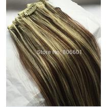 Faixa De Mega Hair Cbelo 100% Humano Com Tic Tac 7 Peças