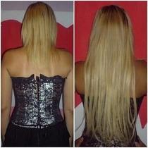 Alongamento Aplique Tic Tac Humano 70cm 120g Mega Hair Liso