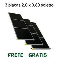 3 Placa Aquecedor Solar 1,60m² Lote 3 Placas Coletor Solar