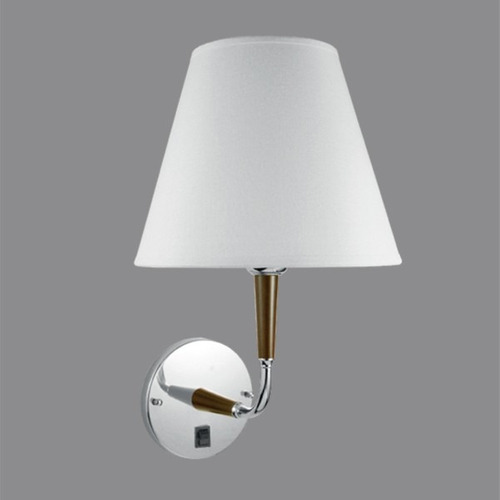 Arandela Cúpula Em Tecido Branco Luminária Quarto Parede ~ Abajur De Parede De Quarto