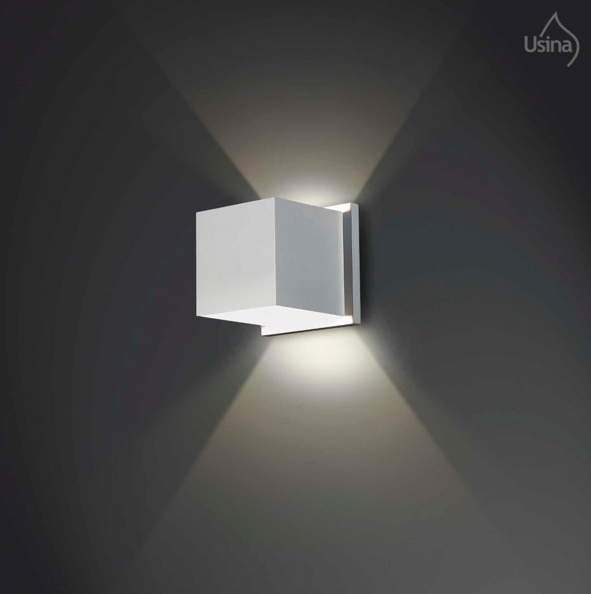 iluminacao jardim balizador Quadrada Branca Parede Iluminação