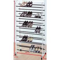 Sapateira 40 Pares De Sapato Antiderrapante Em Aço Cromado