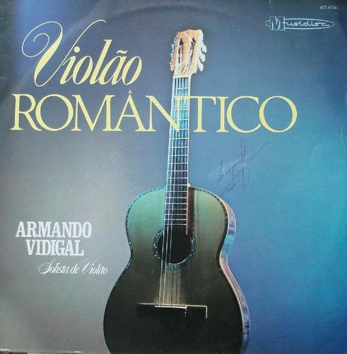 Armando Vidigal Solista Violão Romântico - Lp Musidisc