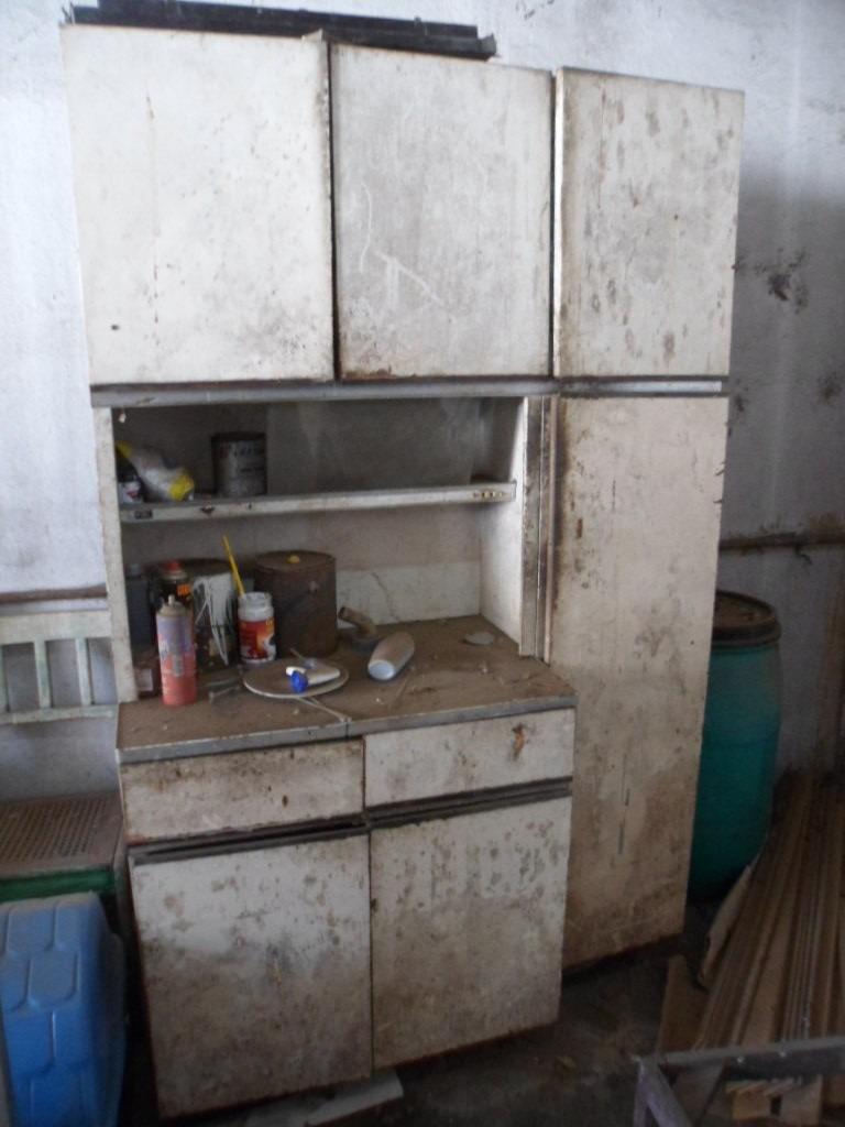 Armario Em Aço Simples : Armario de cozinha antigo anos em a?o marca fiel r