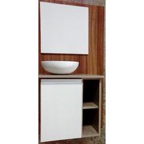 Gabinete Toucador Armário Para Banheiro C/ Cuba E Espelheira