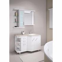 Balcão Para Banheiro 1,10mt Branco Ravenna Para Granito
