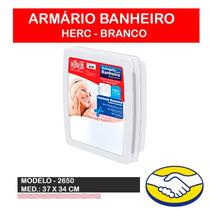 Armário Para Banheiro C/ Espelho Herc 34x37x10 2650 Branco