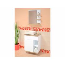 Balcão Para Banheiro Stylus 60x38cm Com Cuba E Espelho