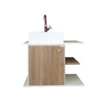 Balcão Para Banheiro Prisma Jauzi 60cm 401 + Espelho + Cuba
