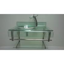 Gabinete De Vidro Incolor Para Banheiro De 70cm