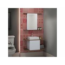 Balcão Para Banheiro Lunnas 70x36cm Com Cuba E Espelho