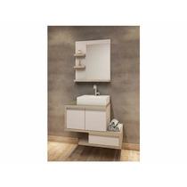 Balcão Para Banheiro Dunas 80x55cm Com Cuba E Espelho