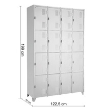 Roupeiro De Aço - Academias - Vestiários 16 Portas