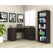 Escritório 2 Pecas Mesa E Armário Home Office
