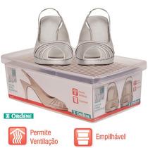 Caixa De Sapato Transparente Para Organizar - Ordene - Médio