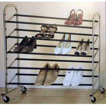 Sapateira Para 25 Pares De Sapatos Aço Cromado