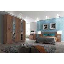 Dormitório Casal Linha Inova Henn Com Roupeiro 6 Portas