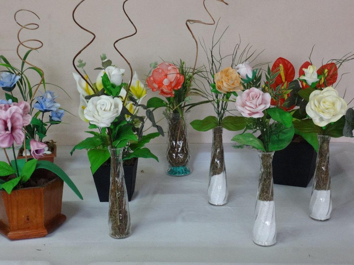 Flores de goma eva 2 flores en maceta auto design tech - Flore de goma eva ...