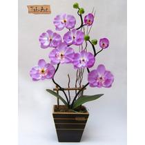 Flores Artificiais - Arranjo De Orquídea Lilás