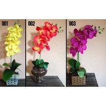 Arranjo De Flores Artificiais - Orquídeas Tam Aprox: 63x30