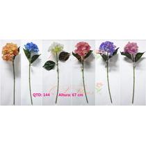 Kit 6 Flores Artificiais Hortência Pronto Entrega-qx Flores
