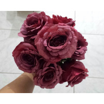 Flores Artificiais Para Arranjos Decoração De Festas Vinho