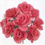 Buquê C/10 Rosas Vermelhas 40 Cm (36029009) Flor Artificial