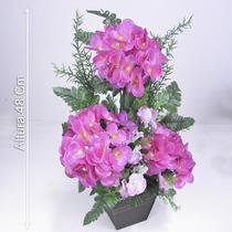Arranjo Hidrângea 48 Cm Diversas Cores - Flores Artificiais