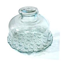 Queijeira Tampa+ Base De Vidro Crystal Glass Ótima Qualidade