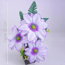 Arranjo C/ Dália 36 Cm Cores Diversas - Flores Artificiais
