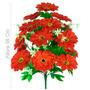 Buquê Dália C/15 Flores Vermelho 58 Cm- Flor Artificial