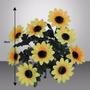 Bq Girassol C/ 9 36cm Amarelo (06423)- Flor Artificial