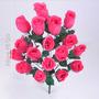 Botão 18 Flores Cor Diversa 48 Cm (0238b25)- Flor Artificial