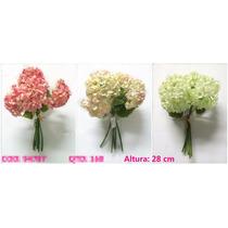 Kit 5 Flores Artificiais Hortência Pronto Entregam -qx
