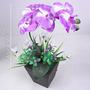 Arranjo Orquídeas 38 Cm Cores Diversas - Flor Artificial
