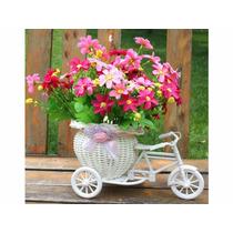 Cachepot Cesta Vaso Flores Cestinha Triciclo Decoração Decor