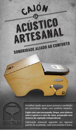Arte Cajon - Cajon Acustico Artesanal, Captacao Dupla