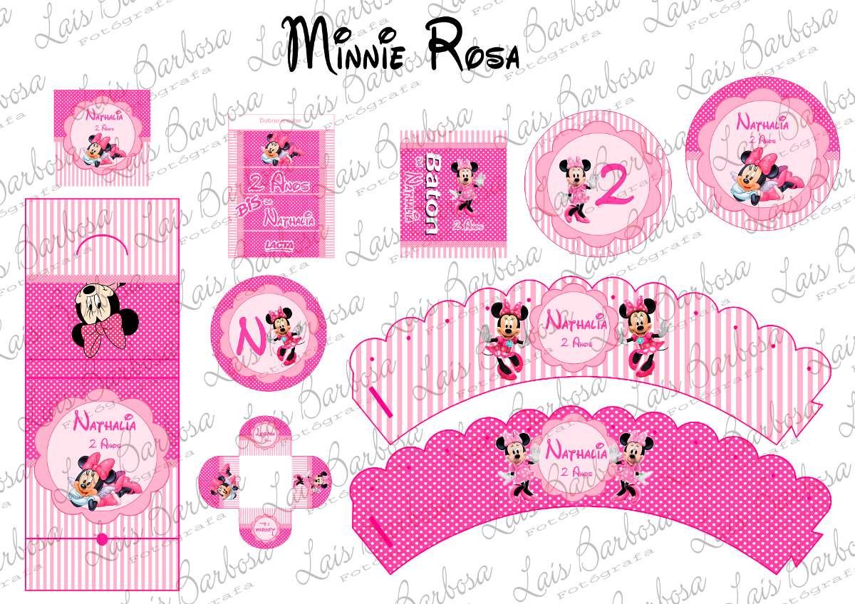 Kit Digital Minnie Rosa Kit Festa Provencal Minnie Vermelha Kit Festa