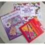Pintura P/ Adultos - Livro, Revista, Lápis Bicolor 48 Cores