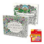 Livros Jardim Secreto E Floresta Encantada + Lápis 48 Cores