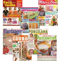 Lote 7 Revistas Artesanato Patchwork Couro E Mais.