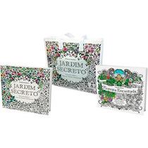 Kit Livro Jardim Secreto Floresta Encantada Sacola Colorir