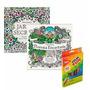 Livros Jardim Secreto E Floresta Encantada + Lápis Cor 36 #