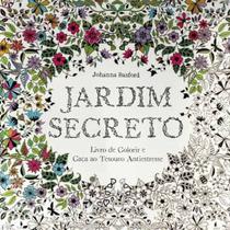 Livro Jardim Secreto Para Colorir E Antiestresse