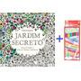 Livro Jardim Secreto + Caixa 12 Lápis - Livro Para Colorir