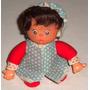 Boneca Bebê Com Touca Bem Antiga Rosto De Borracha -pr